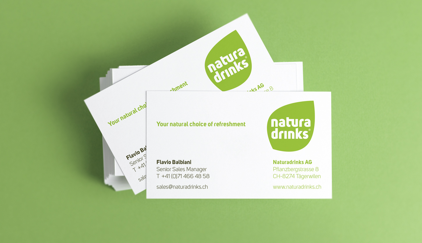 Case Naturadrinks Businesscards